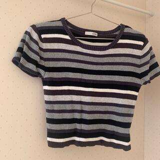 ジェイダ(GYDA)のGYDA カラーボーダーニットTOPS(Tシャツ(半袖/袖なし))