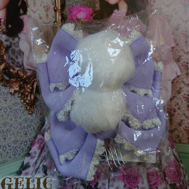 Angelic Pretty(アンジェリックプリティー)のAngelic Pretty☆ポンポンリボンコーム☆新品タグ付 レディースのヘアアクセサリー(その他)の商品写真