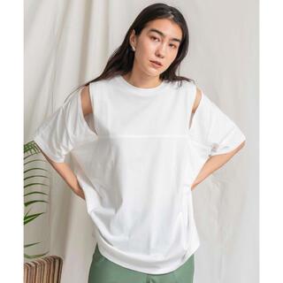 MAISONSPECIALメゾンスペシャル2WAYスリーブTシャツホワイト