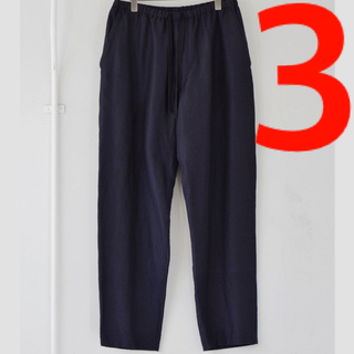 COMOLI - 新品■21AW COMOLI ウールシルク ドローストリングパンツ 3 ネイビー