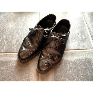COMME des GARCONS HOMME PLUS - COMME des GARCONS 花柄革靴