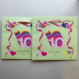 ラデュレ(LADUREE)のラデュレ LADUREE 10周年記念ショップ袋 2枚セット(ショップ袋)