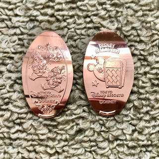 チップ&デール - スーベニアメダル ハロウィン 20周年 チップ&デール セット ディズニー