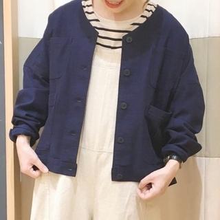 SM2 - ☆SM2サマンサモスモス☆ノーカラーワークジャケット ネイビー フリー
