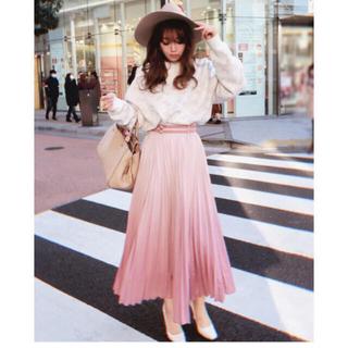 eimy istoire - ♡ グラデーションプリーツスカート pink