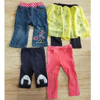 フタフタ(futafuta)の女の子☆長ズボン&ヒザ下丈パンツ4枚セット☆80サイズ(パンツ)