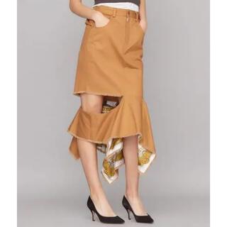 アメリヴィンテージ(Ameri VINTAGE)のAmeri vintage ロングスカート スカーフ柄(ロングスカート)