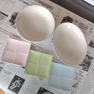 ムジルシリョウヒン(MUJI (無印良品))の無印良品パスタ・カレー皿&TACHIKICHIスクエア皿(計6点)(食器)