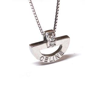 セリーヌ(celine)のCELINE セリーヌ Pt900 ダイヤモンド0.03ct ネックレス(ネックレス)