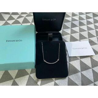 Tiffany & Co. - Tiffany ティファニー Tスマイルネックレス ホワイトゴールド ダイヤ