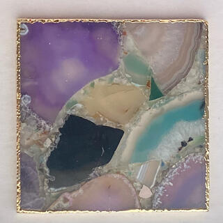 Francfranc - 天然石 MIX ドゥルージー アクセサリートレー コースター D