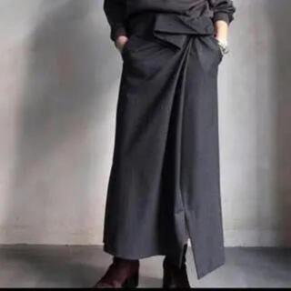ENFOLD - 人気 ENFOLD ドローストリング ベルト ロングスカート