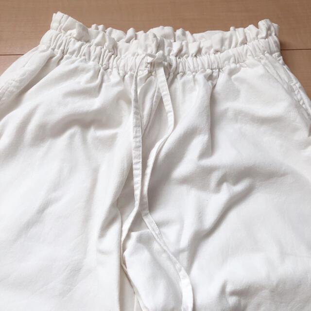 SM2(サマンサモスモス)のSM2 綿麻裾ギャザーレースパンツ レディースのパンツ(カジュアルパンツ)の商品写真
