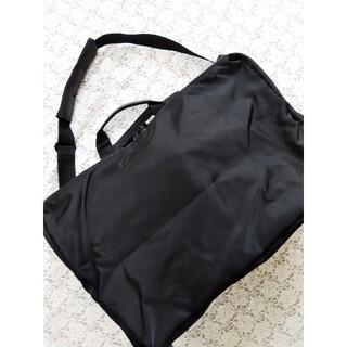 ムジルシリョウヒン(MUJI (無印良品))の無印良品 2way ポケット付き ボストンバッグ 黒 オールブラック シンプル (ボストンバッグ)