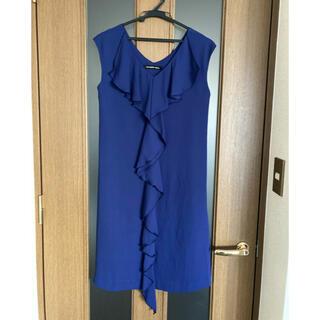 ストロベリーフィールズ(STRAWBERRY-FIELDS)のストロベリーフィールズ ドレス ブルー(ひざ丈ワンピース)