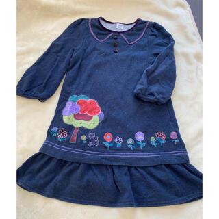アナスイミニ(ANNA SUI mini)のアナスイミニ ワンピース ラメ 刺繍 ワンピース 120(ワンピース)