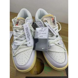 27 off white nike dunk low 1of 50 white(スニーカー)