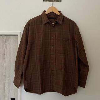 レイジブルー(RAGEBLUE)のRAGEBLUE ブラウン チェック ジャケット シャツ(シャツ)