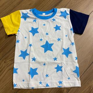 イオン(AEON)の【95サイズ】両肩ツートンカラーのスターTシャツ☆(Tシャツ/カットソー)