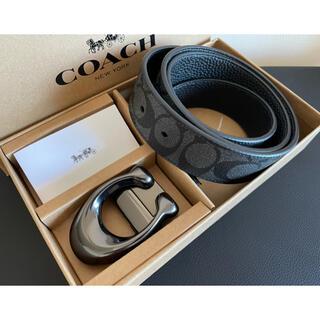 COACH - 37,800円コーチ スカルプテッドシグネチャー/フリーサイズリバーシブルベルト