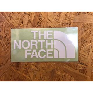 ザノースフェイス(THE NORTH FACE)のノースフェイス カッティングステッカー 白 正規品(その他)