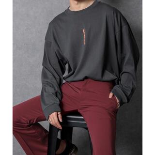 ハレ(HARE)のロゴアソートロンT チャコールグレー(Tシャツ/カットソー(七分/長袖))
