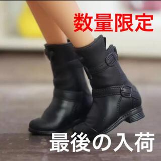 Takara Tomy - リカちゃん ブライス対応 黒のブーツ 靴 シューズ オビツ ピュアニーモ 洋服