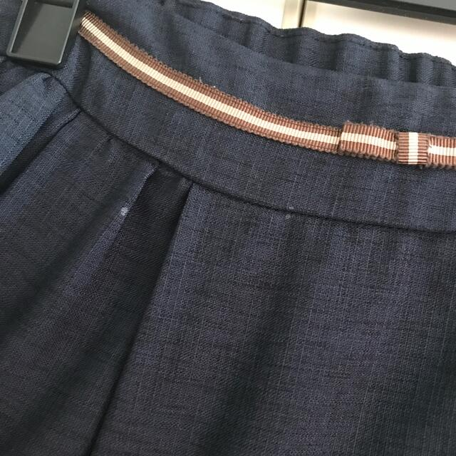 pour la frime(プーラフリーム)のpour la frime リボン付きスカート レディースのスカート(ひざ丈スカート)の商品写真