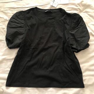 ZARA - ZARA ポプリンTシャツ ブラック M