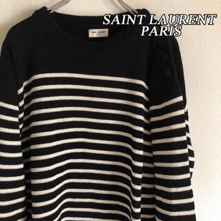 Saint Laurent - SAINT LAURENT PARIS サンローランパリ ボーダー ニット