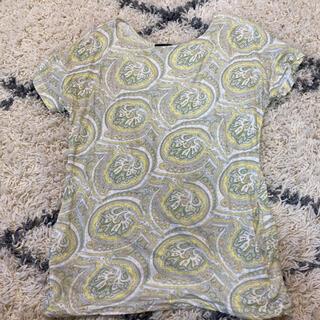 マウジー(moussy)のmoussy マウジー ペイズリー柄チュニック丈Tシャツ ポケット付き(Tシャツ(半袖/袖なし))