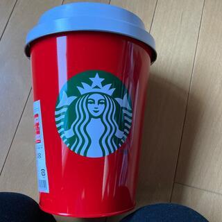 スターバックスコーヒー(Starbucks Coffee)のスタバ ホリデー2019 ビックレッドカップ&ブランケット   新品(おくるみ/ブランケット)