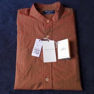 TOMORROWLAND - TOMORROWLAND コットンシャンブレー バンドカラーシャツ