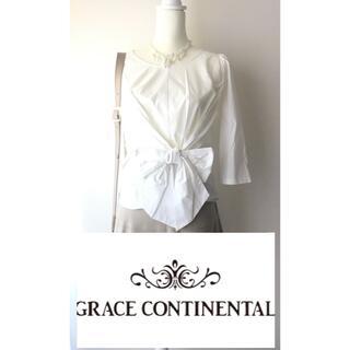 GRACE CONTINENTAL - 【新品】29,900円(税別)日本製 グレースコンチネンタル コットン ブラウス