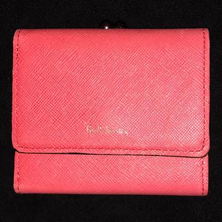 Paul Smith - ポールスミス 三つ折りがま口財布 ウサギデザイン コーラル(ピンク系 レディース
