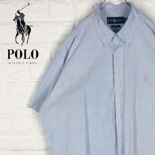 ポロラルフローレン(POLO RALPH LAUREN)のラルフローレン 半袖シャツ ボタンダウン 刺繍ワンポイントロゴ ポニー ゆるだぼ(シャツ)