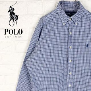ポロラルフローレン(POLO RALPH LAUREN)のラルフローレン 長袖BDシャツ チェック柄 刺繍ワンポイント 胸ロゴ 綿100%(シャツ)