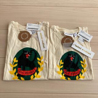 コドモビームス(こどもビームス)の新品・タグ付mini rodini ミニロディーニ キッズTシャツ 2枚set(Tシャツ/カットソー)