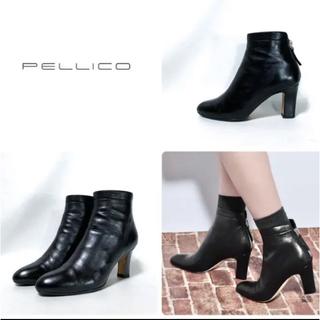 ペリーコ(PELLICO)のPELLICO ペリーコ   バックジップショートブーツ 38(ブーツ)