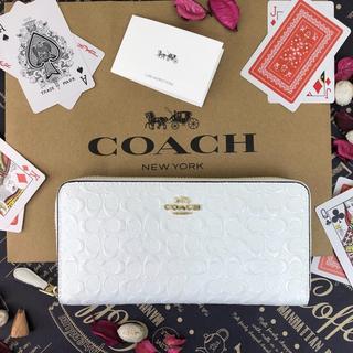 COACH - 限定セール中! COACH  コーチ 長財布 シグネチャー エナメル ホワイト
