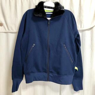ズッカ(ZUCCa)のZUCCa ファー襟ジャージージャケット 美品(ブルゾン)