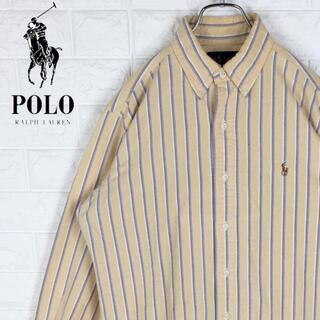 ポロラルフローレン(POLO RALPH LAUREN)のラルフローレン 長袖BDシャツ ストライプ 刺繍ワンポイントロゴ ゆるだぼ90s(シャツ)