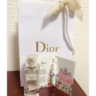 Dior - ミスディオール ヘアミスト &オードパルファムサンプル&ショップ袋