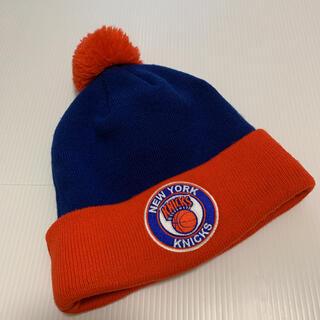 ニューエラー(NEW ERA)の【古着 良品】 NEW ERA ニューヨークニックス ニット帽 ボンボン(ニット帽/ビーニー)