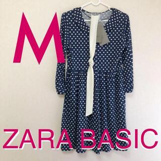 ZARA - ZARA ザラ ワンピース 水玉 ドット 新品 タグ付き 紺色