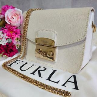 Furla - フルラ ショルダーバッグ メトロポリス 白 レザー チェーン ゴールド金具