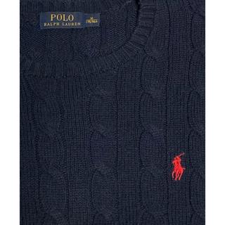 ポロラルフローレン(POLO RALPH LAUREN)のラルフローレン ケーブルニットクルーネックセーター(ニット/セーター)