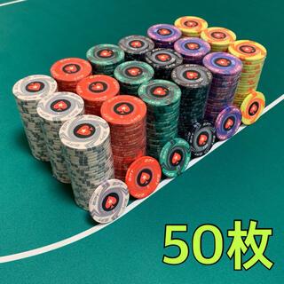 EPT セラミック ポーカーチップ カジノチップ 50枚(トランプ/UNO)