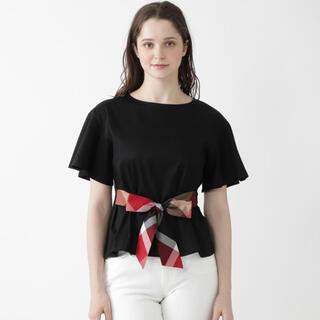 ブラックレーベルクレストブリッジ(BLACK LABEL CRESTBRIDGE)の【新品】クレストブリッジチェックパーシャルシルケットスムースカットソー(Tシャツ/カットソー(半袖/袖なし))