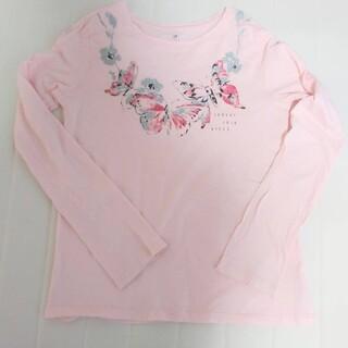ギャップキッズ(GAP Kids)のGAPkids 長袖トップス 長袖Tシャツ ピンク 160(Tシャツ/カットソー)